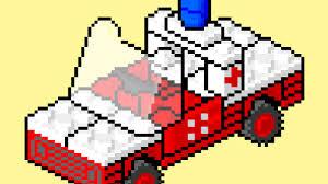 pixel art car lego instructions pixel art movie 623 medic u0027s car youtube