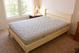 queen size bed from 2x4 lumber bed frames pinterest 2x4