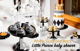 white and gold baby shower white gold and black prince baby shower le lait gender