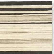 saddle blanket variegated striped dhurrie rug williams sonoma