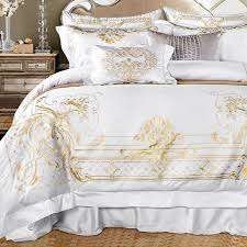 Embroidered Bedding Sets Aliexpress Com Buy Golden Embroidered Bedding Sets Luxury 4pcs