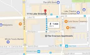 Oak Park Illinois Map by The Emerson Apts Theemersonapt Twitter