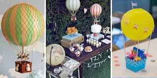 hot air balloon decorations party simplicity hot air balloon birthday party