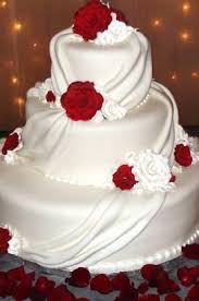 white and red drape wedding cake xtra special cakes