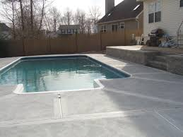 Dyed Concrete Patio by George Skriapas Concrete U0026 Son L L C Swimming Pool Patios U0027
