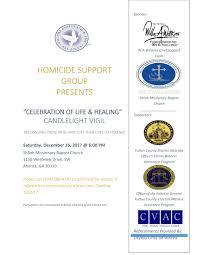 celebration of healing candlelight vigil tickets sat dec 16