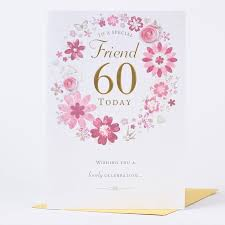 60 Birthday Cards 60th Birthday Card Special Celebration Only 1 49