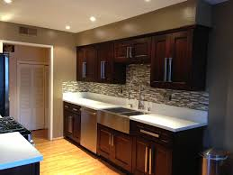 Contemporary Kitchen With Flush  Stainless Steel Apron Sink - Farmhouse double bowl kitchen sink