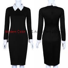 black office dresses women 2017 spring new arrivals fashion long