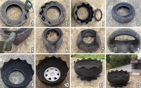 como hacer macetas con llantas recicladas paso a paso cómo transformar un neumático en maceta y 25 diseños vida lúcida