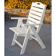 Plastic High Back Patio Chairs Polywood Nautical Recycled Plastic Highback Patio Chair Hayneedle