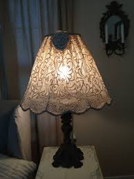 restored treasures too diy lampshade using an antique lace