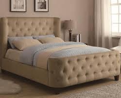 King Headboard And Footboard Set King Tufted Sleigh Bed With Upholstered Headboard And Footboard