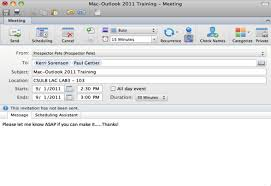 scheduling meetings in outlook 2011 it knowledge base it