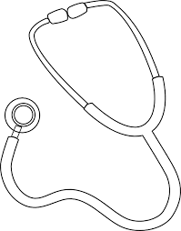 Stethoscope Coloring Page stethoscope coloring page images pictures becuo