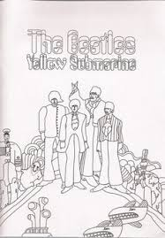 beatles yellow submarine coloring pages lineart beatles
