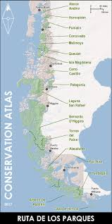 Patagonia Map Route Of Parks Chile U0027s Model For The World U2014 Conservation Atlas
