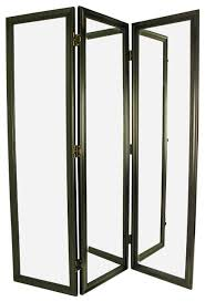 3 panel dressing screen in black finish contemporary screens