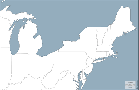 Blank Map Usa Map Of East Coast Usa United States Map In The Atlas Of The Map