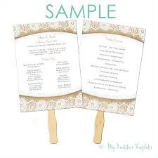 wedding programs template free burlap and lace rustic wedding program fan template free sample