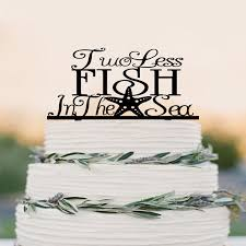 nautical cake toppers two less fish in the sea wedding cake topper starfish cake topper