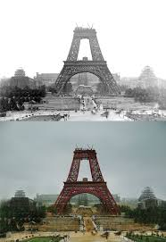 Who Designed The Eiffel Tower The Eiffel Tower July 1888 Colorized By Me Pics