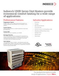 Custom Comfort Heating And Air Uhir Series Indeeco
