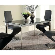 ikea glivarp extendable table chintaly tara extendable glass dining table in chrome tara dt blk