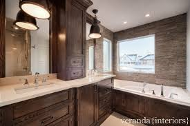 Brown Bathroom Cabinets by Stained Cabinets Design Ideas