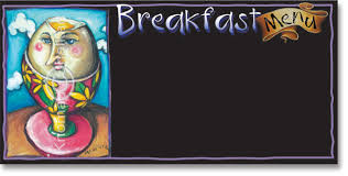 breakfast menu board template art shop