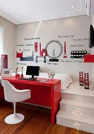 chambre moderne fille bureau de chambre moderne idées décoration intérieure