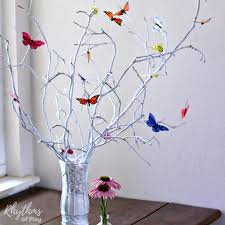 Photo Tree Centerpiece by Simple Diy Butterfly Tree Centerpiece Rhythms Of Play