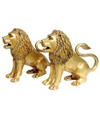 gold lion statues statuestudio lion statues brass idols lions the theme of