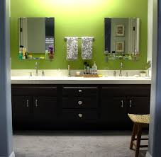Painting Bathroom Cabinets Color Ideas by Painting Bathroom Cabinets Brown Restained Cabinets Makes A Huge