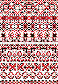geometric embroidery pattern in folk style with black and