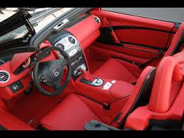 mercedes mclaren red 2008 brabus mercedes benz slr roadster mclaren interior top
