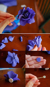 flowers for headbands diy fabric flower hair pin loosely followed this idea to make