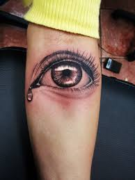 3d crying eye tattoo on hand photos pictures and sketches