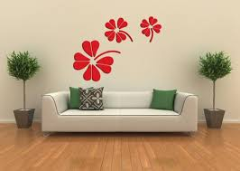 JY02 3D Flower Design Removable Wall Stickers Acrylic Self