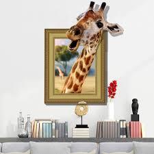 popular super modern furniture buy cheap super modern furniture cartoon 3d funny giraffe stickers home decoration wall art wall stickers drop shipping