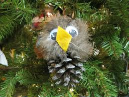 32 best owl ornaments images on owl ornament pinecone