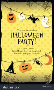 card design of pumpkin for halloween party royalty free stock