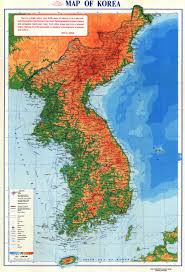 Asia Physical Map by Physical Map Of Korean Peninsula With Roads And Cities Produced