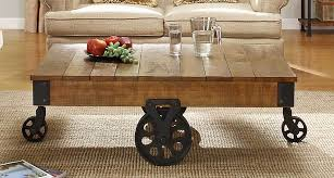 Rustic Coffee Table With Wheels Beautiful Rustic Coffee Tables With Wheels Factory Rustic Brown