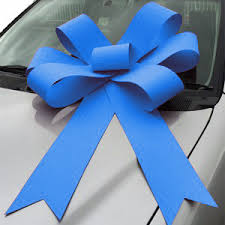 big bow for car present big kingfisher turquoise blue car bonnet bow 75cm x 110cm x 15cm