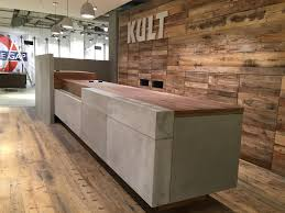 Reception Desk Wood Furniture Wood Plank Reception Desk Modern Desks Design Photos
