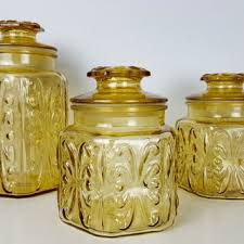antique kitchen canister sets best vintage kitchen canisters glass products on wanelo