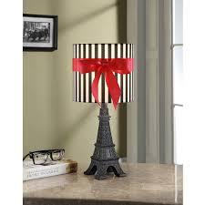 your zone paris lamp with cfl bulb black walmart com