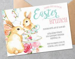 easter brunch invitations easter invite etsy