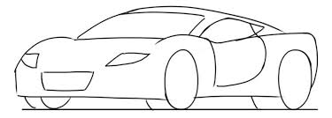 car drawing tutorial sports cars 3 4 front view junior car designer